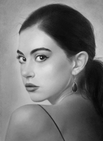 Női portré rajz